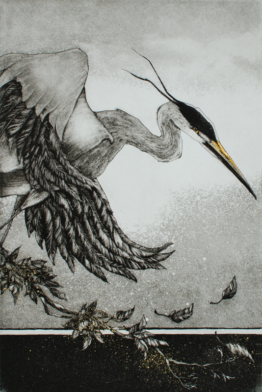 "Etching by Beki Killorin edition of 200 Image size: 6"" x 9"" Price: $220.00"