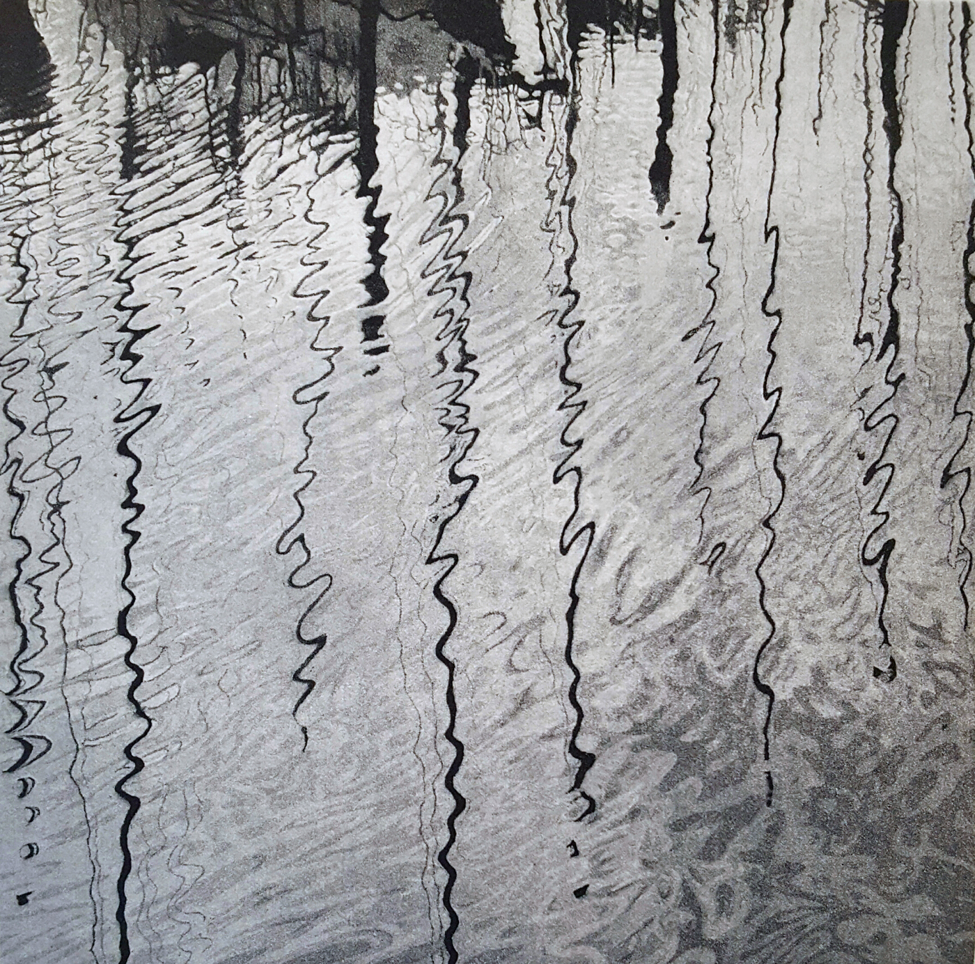 Water Music is an aquatint etching by Stephen McMillan