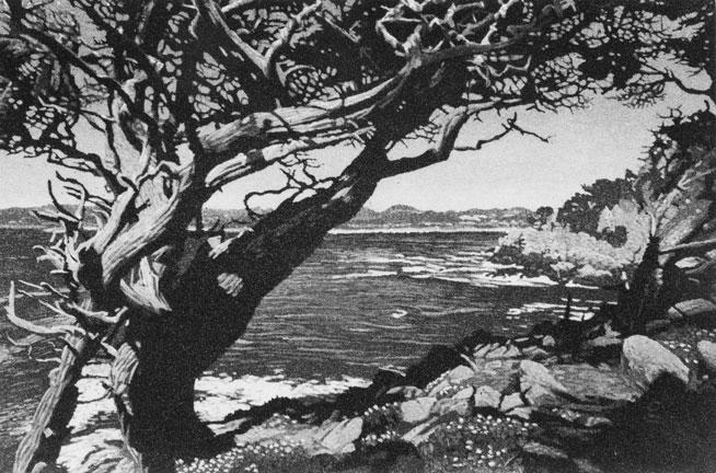Carmel Bay, 1 plate edition
