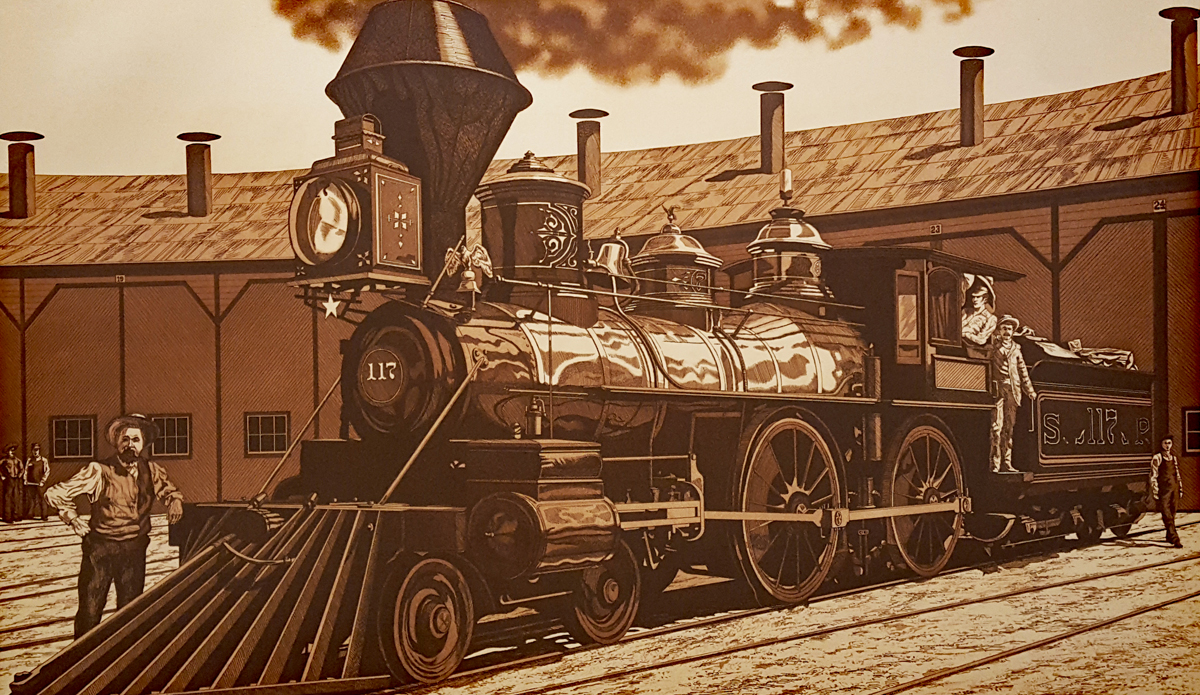 #117 of the Pacific Railroad of Arizona by Kathleen Cantin