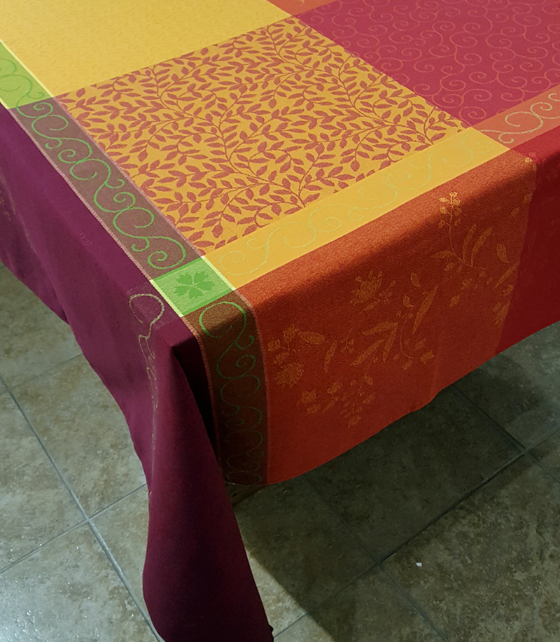 """Patchwork 63"""" sq Tablecloth - FRANCE"""