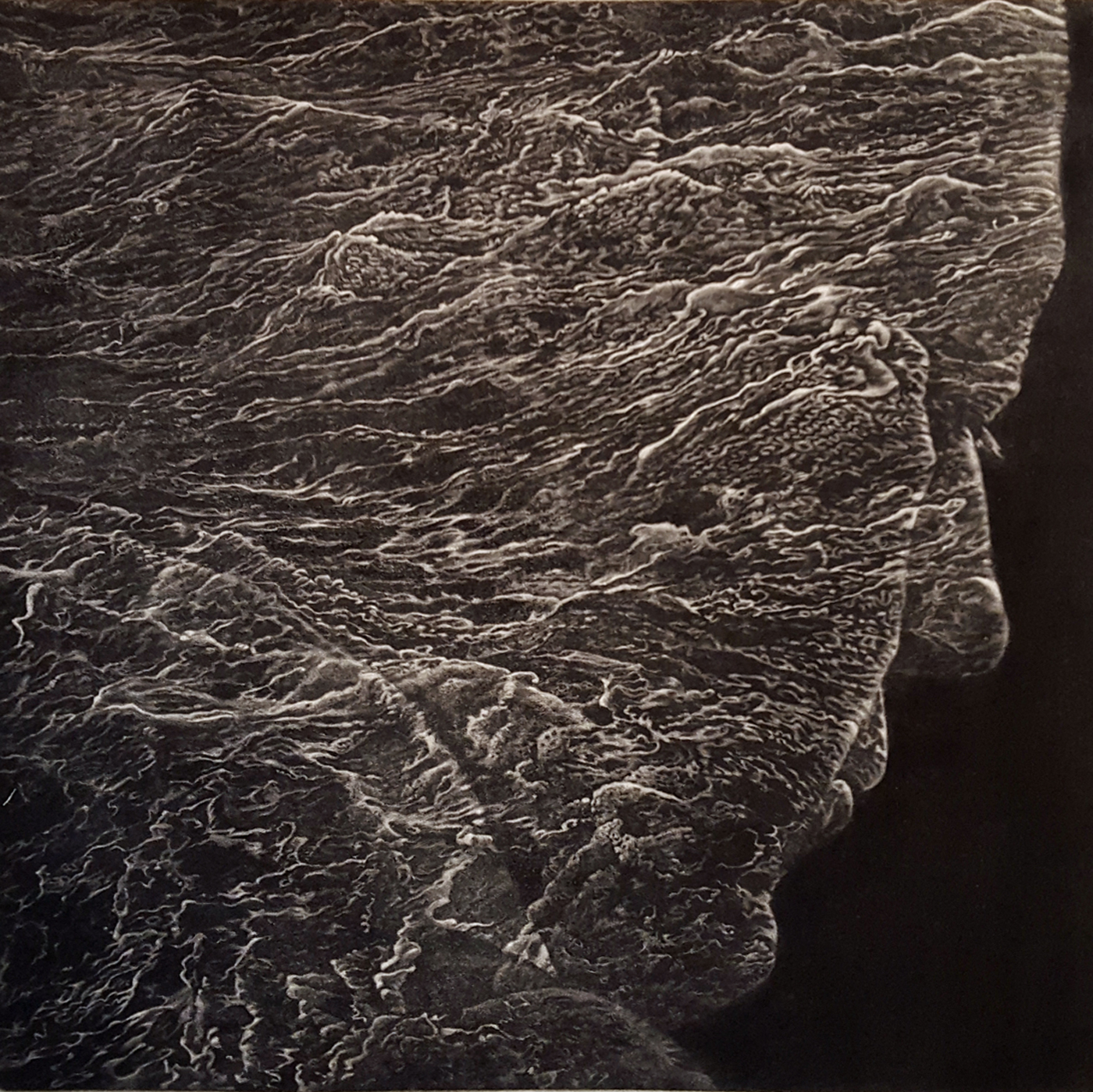 """""""The Act of Forgetting"""" mezzotint by Art Werger"""