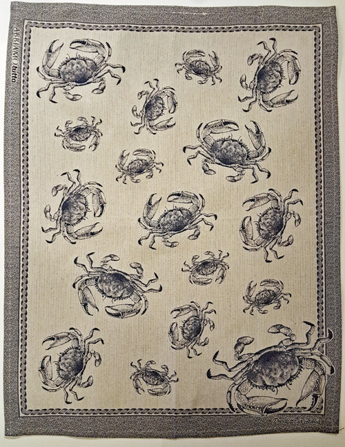 Tea Towel from Italy Crabs