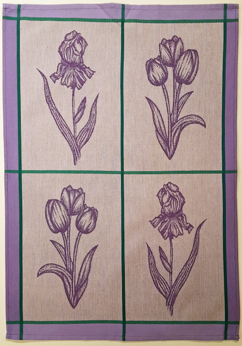 Set of two Tea Towels Spring Flowers