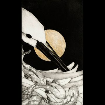 """Etching by Beki Killorin edition of 350 Image size: 5 3/4"""" x 9 3/4"""" Price: $150.00"""
