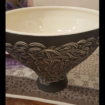 Sgraffito large bowl by Oxide Pottery