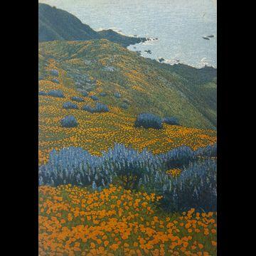 2017 3 plate aquatint etching Garrapata State Beach, Big Sur, CA