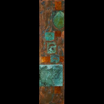 Garden Gathered verdigris on copper