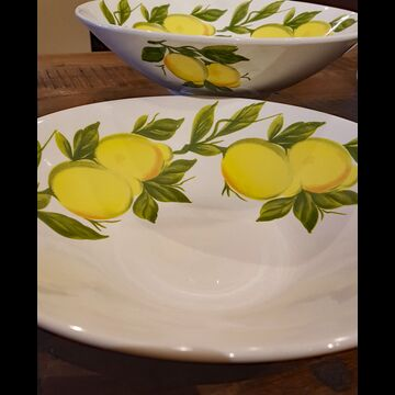 "10 1/4"" Lemon serving bowl (Italy)"