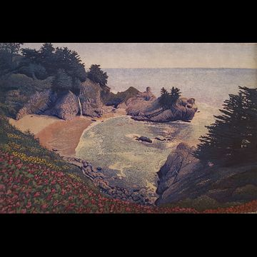 """Monterey Coast"" aquatint etching by Stephen McMillan"