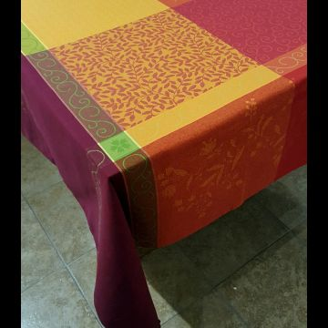 "Patchwork 63"" sq Tablecloth - FRANCE"