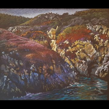 Point Lobos #1 original drawing