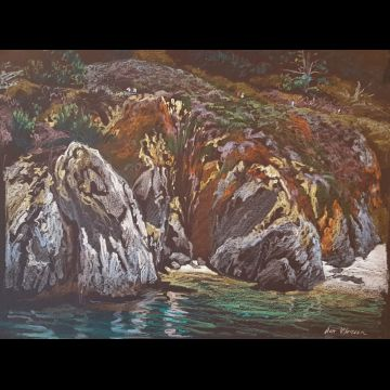 Point Lobos #2 original drawing
