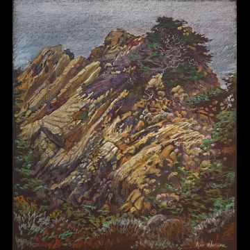 Point Lobos #3 original drawing