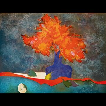 Vase Bleu by Claude Gaveau