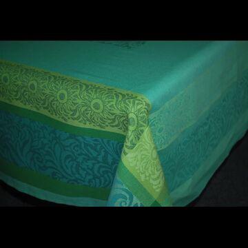 """Lea Green 63"""" sq Tablecloth - FRANCE"""
