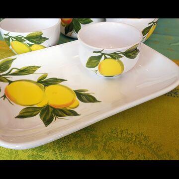 Lemon serving SET tray and bowl (Italy)